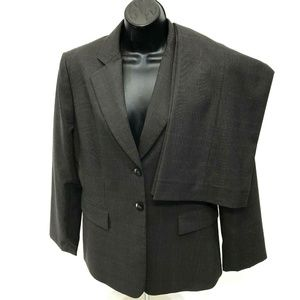 TAHARI ASL 2 Piece Pant Suit Womens Sz 12 Gray